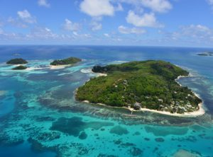 Cerf island Seychelles aerial view
