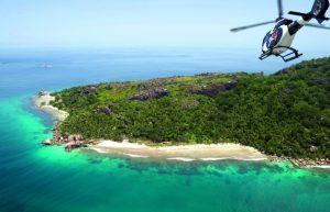 Top view Félicité-island-Seychelles