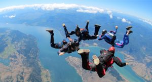 Skydiving in the Seychelles