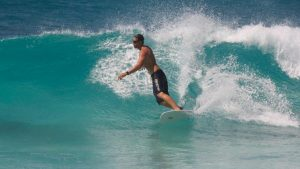Surfing in mahe seychelles