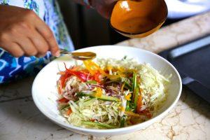 Creole papaya salad